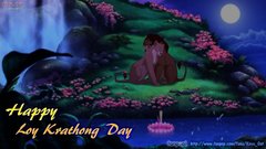 Le Roi Lion image Simba Nala l amour In Loy Krathong Night HD fond