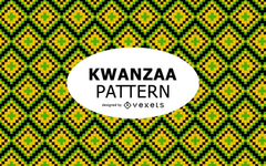 Colorful geometric Kwanzaa pattern