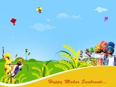 Happy Makar Sankranti Greetings Indian Festival HD Image
