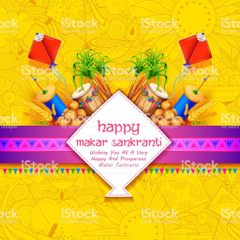 Makar Sankranti Wallpapers With Colorful Kite For Festival Of India