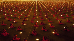High Quality wallpaper Buddhist monks in Thailand celebrating Magha