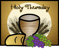 Faith Filled bies Holy Thursday Clip Art from