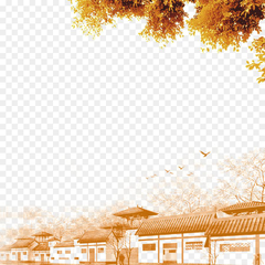 Qingming Festival Chinoiserie u7d20u6750u516cu793e Ink wash painting