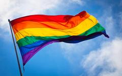 Wallpapers gay pride flag rainbows colorful sky clouds San