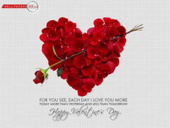 Loving and Heart Shaped Wallpapers on Valentine Day