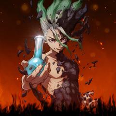 Anime boy artwork Senku Ishigami Dr Stone 1224x1224