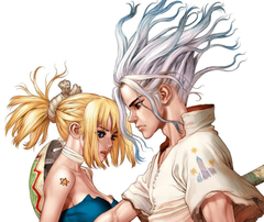 Anime Dr Stone Senku Ishigami Kohaku