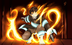 Fire Force Amazing Shinra Backgrounds by 1vip