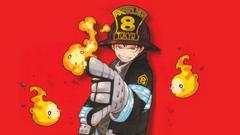 Fire Force Shinra Arthur Flames 8K Wallpapers