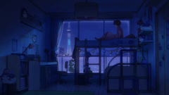 Blue themed room Sarazanmai 1920x1080 Animewallpapers