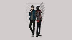 Eren Yeager And Mikasa Ackerman