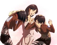 Anime Attack On Titan Carla Yeager Mikasa Ackerman Eren Yeager