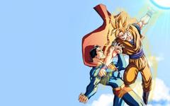 Son Goku Super Saiyan Vs Superman Wallpapers