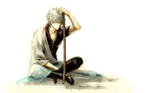anime Gintama White Hair Anime Boys Sakata Gintoki Wallpapers