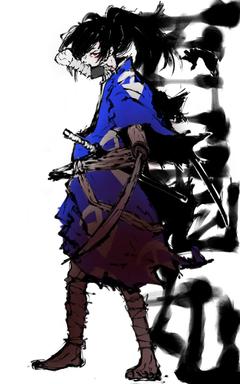I drew Hyakkimaru from Dororo anime