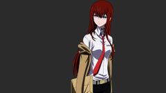 Vectors Steins Gate Makise Kurisu simple backgrounds anime girls