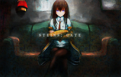 Wallpapers girl anime art makise kurisu steins gate sweeter 6