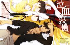 Wallpapers katana characters neckline gloves shirt long hair