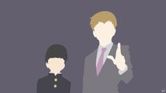 Anime Mob Psycho 100 Arataka Reigen Minimalist Shigeo Kageyama Fondo