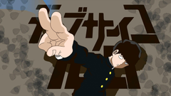 Male anime character in black suit Mob Psycho 100 Kageyama Shigeo