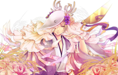 Wallpapers flowers mask horns ears Japanese clothing Cape