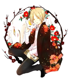 Yellow haired male anime character Natsume Book of Friends Natsume