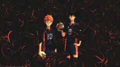 Wallpapers Haikyuu anime boys Hinata Shouyou Kageyama Tobio