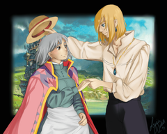 Howl s Moving Castle image Sophie and Howl HD wallpapers and