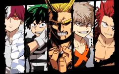 Anime Boku No Hero Academia Izuku Midoriya All Might Katsuki