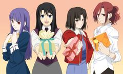 Wallpapers Kara no Kyoukai anime girls Kokutou Azaka Ryougi