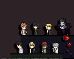 Death Note Chibi Wallpapers by SilentReaper