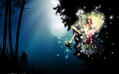 Into the Forest of Fireflies Light Full HD Bakgrund and Bakgrund