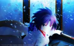 Wallpapers anime girls blue Kara no Kyoukai Ryougi Shiki