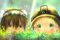 Wallpapers Made In Abyss Rico Regu Cute Chibi Grass