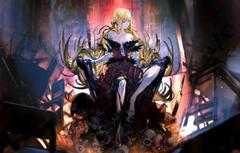 Wallpapers girl skulls anime vampire blonde artwork fantasy art