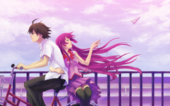 anime boys girls Koyomi Hitagi
