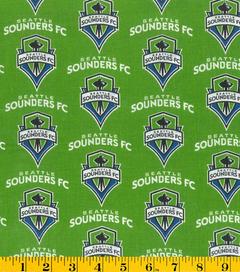 Seattle Sounders MLS Cotton Fabic
