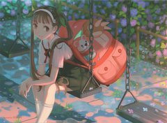 New VOFAN Mayoi Illustration from the Recent Owarimonogatari Blu