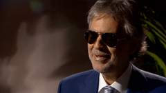 Andrea Bocelli shares voice views in Davos