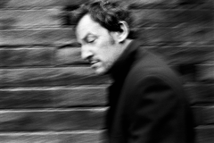 Bruce Springsteen Grayscale Motion Blur Brick Wall Musicians