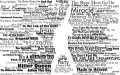 typography Freddie Mercury Queen Silhouette Wallpapers HD