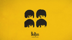 Wallpapers Beatles simple graphics a hard days night Ringo
