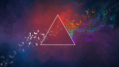 triangle Colorful Abstract Butterfly Pink Floyd Wallpapers HD