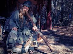 Wallpapers Men Didgeridoo Musical Instruments