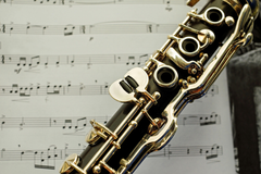 stock photo of clarinet keys music