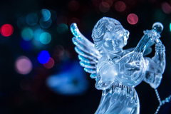 lights new year christmas angel lute HD wallpapers