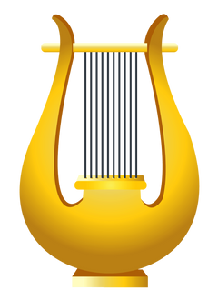 Gold Harp PNG Clipart Picture