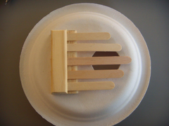 D Popsicle Stick and Paper Plate Kalimba