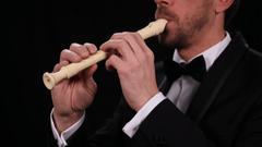 Musician Sing Flutist Play Recorder Flute Classical Music Instrument
