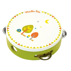 Moulin Roty Childrens Tambourine In Green